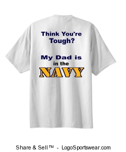 Think Your Tough Navy T-Shirt Design Zoom