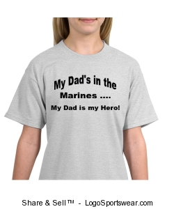 My Dad is Marines T-Shirt Design Zoom