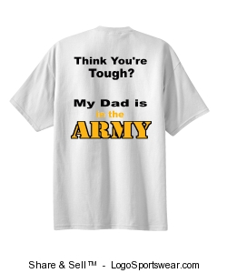 Think Your Tough Army T-shirt Design Zoom