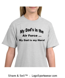 My Dad is Air Force T-Shirt Design Zoom